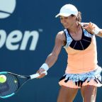 NEW YORK, NEW YORK - AUGUST 26: Monica Niculescu of Romania returns a shot during her women's singles first round match against Dayana Yastremska of the Ukraine during day one of the 2019 US Open at the USTA Billie Jean King National Tennis Center on August 26, 2019 in the Flushing neighborhood of the Queens borough of New York City. (Photo by Al Bello/Getty Images)